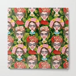 Frida in the jungle Metal Print