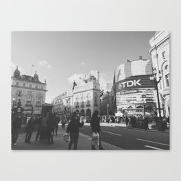 Piccadilly Circus WB Canvas Print