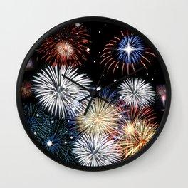 Grand Finale Firework Show Wall Clock