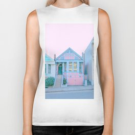 San Francisco Painted Lady Victorian House Biker Tank