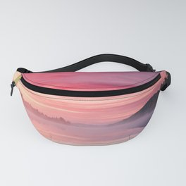 Beautiful Bright Colorful Sunrise Over Lake in The Boundary Watershe Boundary Waters Fanny Pack