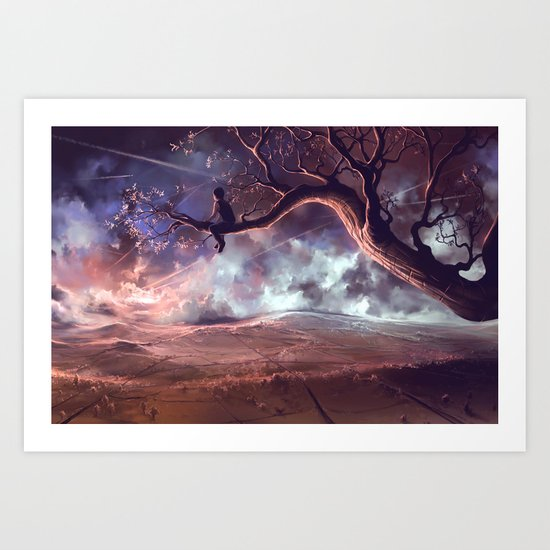 It made scars in the sky  Art Print