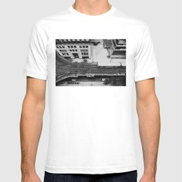 looking down on the tracks ... T-shirt