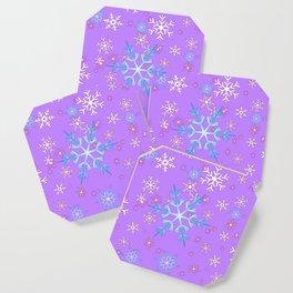LILAC PURPLE WINTER SNOWFLAKES Coaster