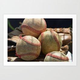 Baseballs and Glove Art Print
