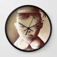 orphan black Wall Clocks featuring The Orphan by Jacques Marcotte