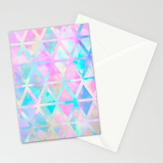 Pink pastel aztec pattern Stationery Cards