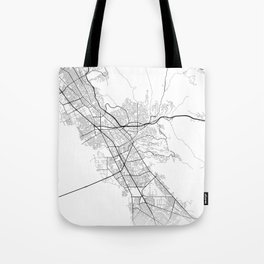 Minimal City Maps - Map Of Hayward, California, United States Tote Bag