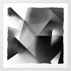 Monochromatic Cubism Art Print