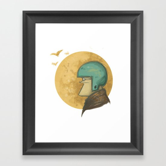 flying to the moon Framed Art Print