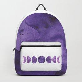 Lunar Phases in Violet Backpack