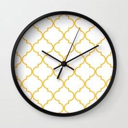 Quatrefoil - Butterscotch yellow Wall Clock