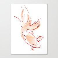 goldfish Canvas Prints featuring goldfish by 1 monde à part