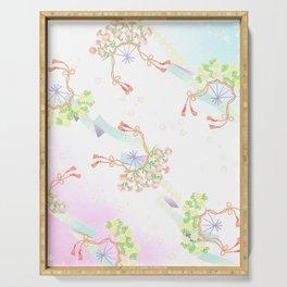 Vintage japanese orental design Serving Tray