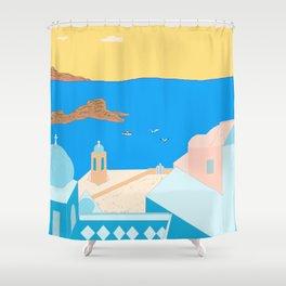In Greece Shower Curtain