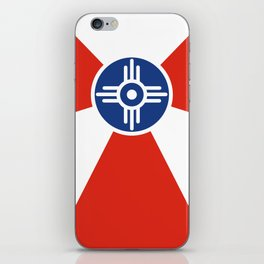 Wichita Kansas city flag united states of america iPhone Skin