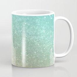 Sparkling Gold Aqua Teal Glitter Glam #1 #shiny #decor #society6 Coffee Mug