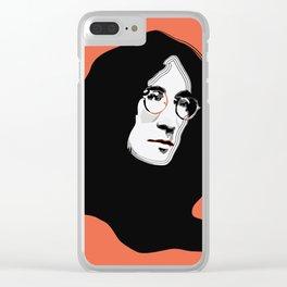 John - Pop Style Clear iPhone Case