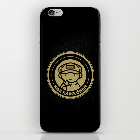 Chibi Kimi Raikkonen - Lotus F1 Team iPhone & iPod Skin