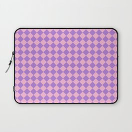 Cotton Candy Pink and Lavender Violet Diamonds Laptop Sleeve