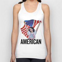american Tank Tops featuring American by Brandon Gendron