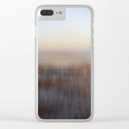 Cold Winter Beach Clear iPhone Case
