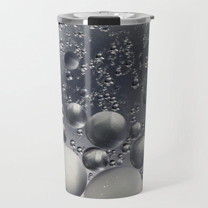 Crazy silver/grey bubbles Travel Mug