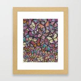 butterflies aflutter rosy pastels version Framed Art Print