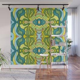 Lettuce Bloom Kaleidoscope Wall Mural