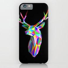 3D Stag Black Background Slim Case iPhone 6s
