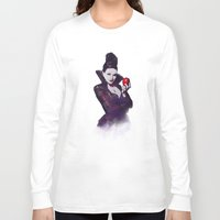 evil queen Long Sleeve T-shirts featuring The Evil Queen V2 by Cursed Rose