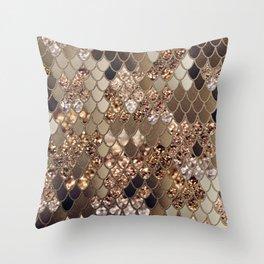 Mermaid Glitter Scales #6 #shiny #decor #art #society6 Throw Pillow