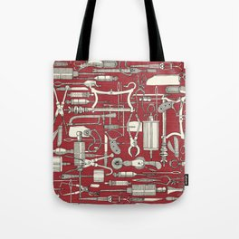 fiendish incisions claret Tote Bag