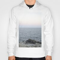 maine Hoodies featuring Maine Coast by AlanW