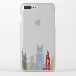 Cork skyline poster Clear iPhone Case