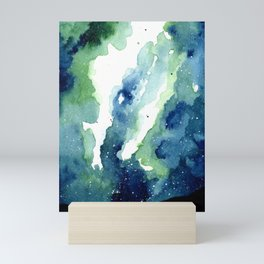 Green Galaxy Mini Art Print