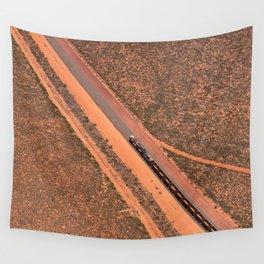 Pilbara Train - Ariel  Wall Tapestry