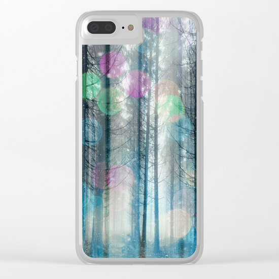 Happy Holidays 3 Clear iPhone Case