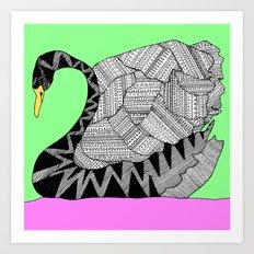 swan square Art Print