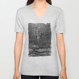 Old Fabric Fibers-Distressed-Torn Cloth-Ripped Unisex V-Neck