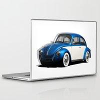 volkswagen Laptop & iPad Skins featuring Volkswagen Beetle by cjsphotos