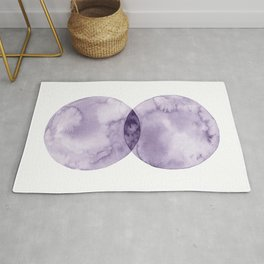 Collide / Contemporary Geometric Watercolor Rug
