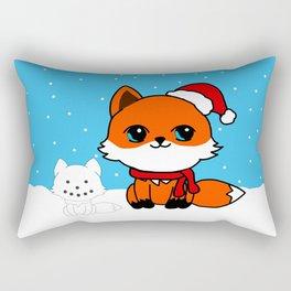 A Fox in the Snow Rectangular Pillow