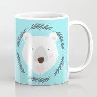 polar bear Mugs featuring polar bear by Taranta Babu