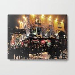 Dublin Pub District. Metal Print