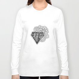 Mandala Meets Diamond Long Sleeve T-shirt