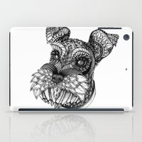 schnauzer iPad Cases featuring Ornate Schnauzer by Adrian Dominguez