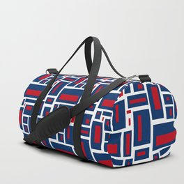 Modern Geometric in Red, White and Blue Duffle Bag