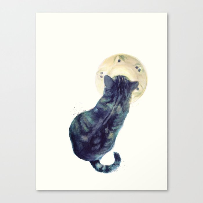 Kitten and Saucer Canvas Print