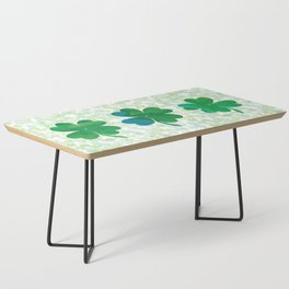 Lucky Watercolor Clovers Coffee Table